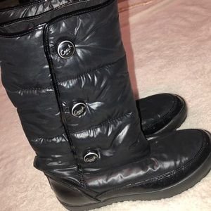 Coach Polina Black Snow Boots
